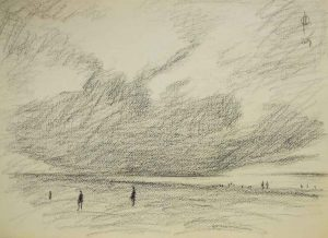 Sky 15 pencil on paper, 25.5x35.5 cm, 2014