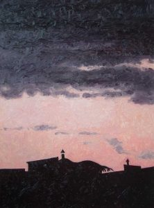 Contre-jour X - Heavy Clouds - oil on linen, 82x60 cm, 2009