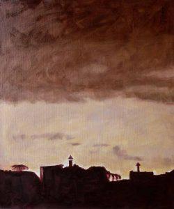 Ter Streep- East End III, oil on canvas, 50x60cm, 2014