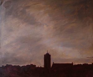 Ter Streep- East End IV, oil on canvas, 50x60cm, 2014