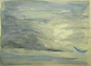 Sky 78 - watercolour on paper, 22.5x30cm, 2016