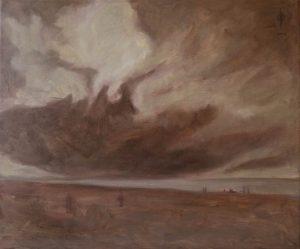 Ter Streep- East End VIII, oil on canvas, 50x60cm, 2014