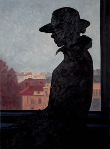 Contre-jour IV (diptych) - right panel, oil on linen, 81.5 x 60 cm, 2009