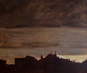 Ter Streep- East End IX, oil on canvas, 50x60cm, 2014