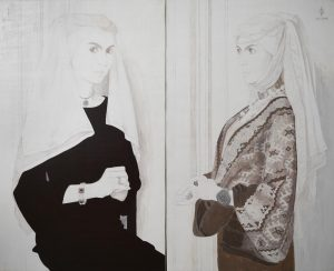 99. Unfinished Flemish Panels - diptych, egg tempera on wooden panels, 105x130cm, 2006-12